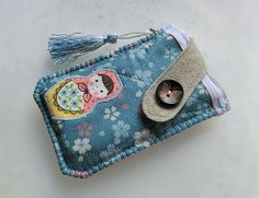 Sakura Matryoshka Mobile Phone Pouch from Lily's Handmade - Desire 2 Handmade Gifts, Bags, Charms, Pouches, Cases, Purses by DaWanda.com
