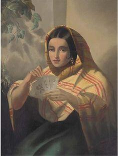 John Phillip (1817-1867): kolybanov — LiveJournal Fortune Teller, House Of Cards, Oil On Canvas, Mona Lisa, Artwork, Paintings, Work Of Art, Auguste Rodin Artwork, Paint