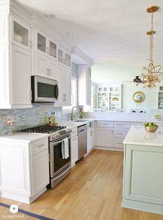 Gorgeous Coastal Kitchen Makeover