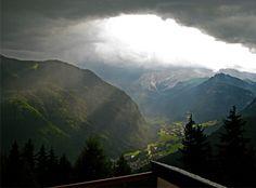 Summer view of Val di Fassa, Trentino