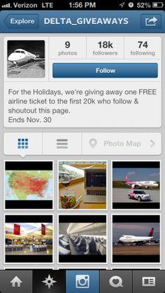 Beware: Fake Airline Instagram Accounts Promise Free Flights