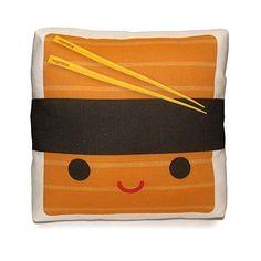 Mini Pillow  Yummy Shrimp Sushi by mymimi on Etsy, $18.00