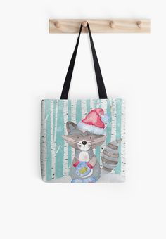 Winter Woodland Friends Ra Forest Animals Ilration Tote Bag By Utart