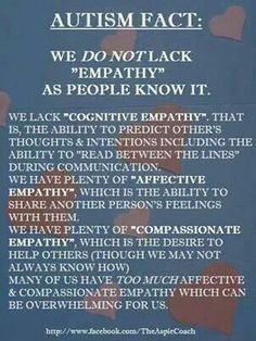 Empathy, autism fact