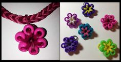 Beaded Flower Charm for the Rainbow Loom by Made By Mommy