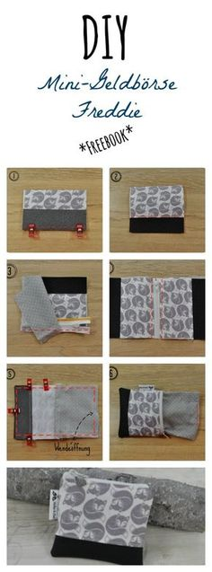 Small wallet (pattern and instructions) tutorial Best Picture For DIY Wallet pattern For Your Tas Diy Wallet Duct Tape, Crochet Blanket Patterns, Knitting Patterns, Diy Wallet Pattern, Diy Purse, Handmade Purses, Craft Bags, Purse Patterns, Textiles