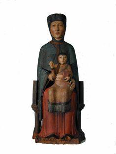 Vierge en majesté de Vernols     bois polychrome, époque romane