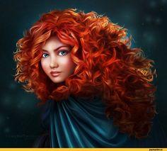 Мерида,Храбрая сердцем,рыжие,арт барышня,арт девушка, art барышня, art девушка,,красивые картинки,арт,Disney