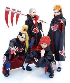 Akatsuki cosplay (Deidara, Hidan, Sasori, and Pain)