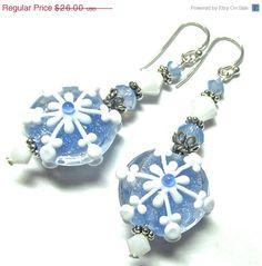 15 OFF SALE Handmade Lampwork Beads Christmas by SeeMyJewelry, $22.10