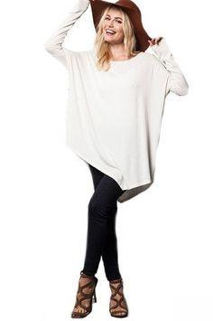 Fresh Take Asymmetrical Tunic Top - White