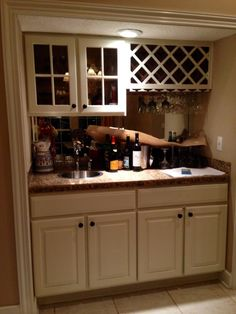 http://vintagefuniturepaintinc.com  #paint #kitchen #winerack