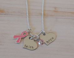Hand Stamped Necklace HOPE & FAITH with by CharmingAndTreasured