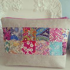 Linen and Liberty zipper pouch