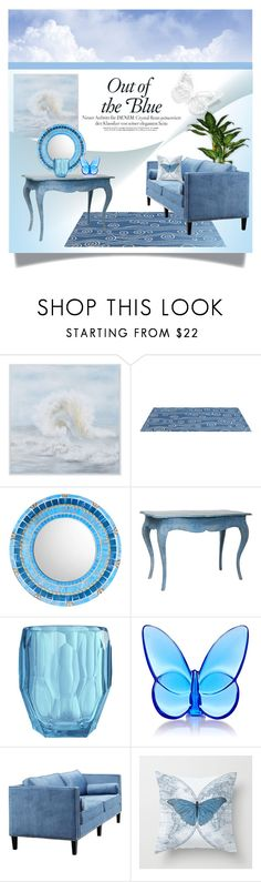"""""""Out of the Blue"""" by melody-renfro-goldsberry ❤ liked on Polyvore featuring interior, interiors, interior design, home, home decor, interior decorating, Somerset Bay, Aidan Gray, Mario Luca Giusti and Baccarat"""