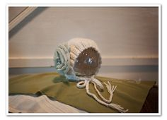 Newborn Bonnet with Chiffon Flower and Layering by TheChikenCoop, $42.00
