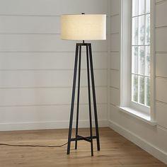 Castillo Black Floor Lamp | Crate and Barrel