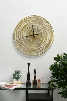 Add a distinctive look to your space with a modern wall clock. Besides their practical use, vintage wall clocks are perfect for adding artful appeal to your kitchen wall or acting as a focal point in the living room. Our unique design and beautiful metal frame will delight your life on a daily basis. #wallclockslivingroom #wallclockslarge #wallclockslargelivingrooms #kitchenwallclock #modernwallclocks #vintagewallclock #wallclocksideas #wallclocksretro #wallclocksart #clocks #clock…
