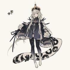 "agugugu on Twitter: ""豹豹❄️(⁎⁍̴̛ᴗ⁍̴̛⁎)~… "" Fantasy Character Design, Character Design Inspiration, Character Art, Character Costumes, Cute Characters, Fantasy Characters, Female Characters, Art Manga, Anime Art Girl"