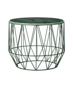 Coffee Table Metall Marmor smaragd grün