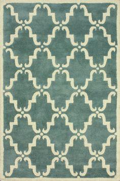 Nuloom Hand Tufted Bold Trellis Light Blue Area Rug
