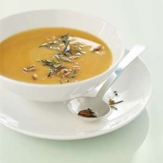 Butternut squash soup with rosemary :)