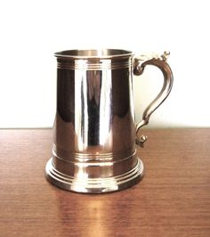 Vintage pewter tankard stein heavy hammered made in Sheffield England breweriana 10th Wedding Anniversary gift 1950s 50s One pint by IrishBarnVintage on Etsy