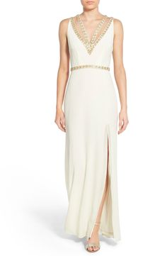 TFNC 'Celina' Embellished Strappy Gown available at #Nordstrom
