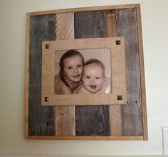 reclaimed wood and burlap picture frame, crafts, pallet, woodworking projects, Mount mat to frame using decorative nails