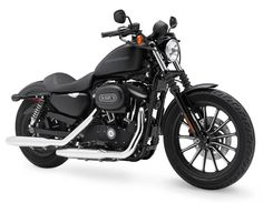Harley Davidson 883 Iron in Black Denim. Black On Black & the open Road. Awesome.