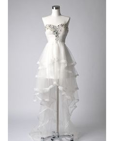 White Tulle High Low Dress (Reception dress?)