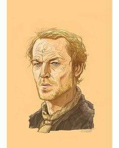 Jorah Mormont - Game of Thrones Portraits by PJ McQuade