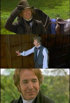 ilovejaneausten:       Alan was very moving. He's played Machiavellian types so effectively  that it's a thrill to see him expose the extraordinary sweetness in his nature. Sad, vulnerable but weighty presence. Brandon is, I suppose,the  real hero of this piece but he has to grow on the audience as he grows on Marianne.  -Emma Thompson