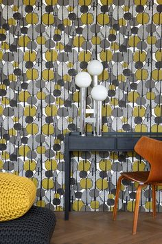 Gracewood of Ferm Living in the colours curry, black and grey tones