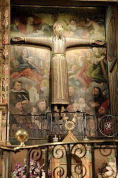 Cristo en la cruz de Beget Alta Garrotxa Girona Catalonia