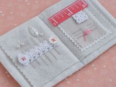 A zakka needlebook from Pretty by Hand with link to tutorial from nanaCompany.