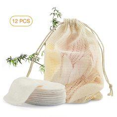 Reusable Bamboo Cotton Fiber Makeup Remover Facial Pads - 12 pcs – The Green Green Shop