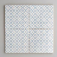 Monchique - handpainted, handmade patterned grey and white tiles. Portuguese tiles for bathrooms and kitchens from Everett and Blue Patterned Kitchen Tiles, Blue Tiles, White Tiles, Bathroom Floor Tiles, Tile Floor, House Extension Design, Portuguese Tiles, Home Decor Store, Tile Patterns