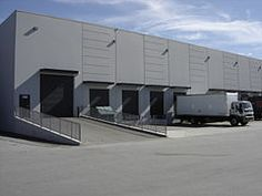 Loading Dock Construction | Typical warehouse exterior showing loading docks