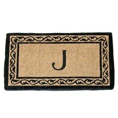 Geo Crafts Creel Ivy Border Monogram Mat - G134-48J, GEOC002-36