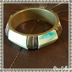 Solid brass pastel color bracelet Very pretty Boho. Jewelry Bracelets