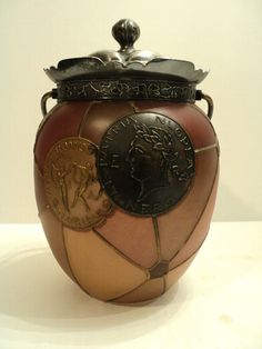 Mt Washington Royal Flemish Art Glass Biscuit Jar