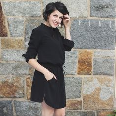 Isn't @lindsay_hellohue the cutest? We LOVE how she styled her @brassclothing dress with @nickelandsuede. The earrings make this fab dress just :ok_hand:. #nickelandsuede #leatherearrings #lightweightearrings #brassclothing