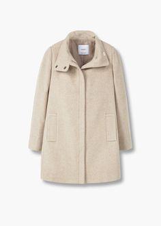 wool straight-cut coat - MANGO.