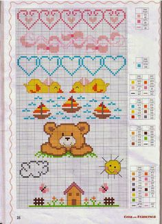 New Embroidery Stitches Baby Sweets Ideas Cross Stitch For Kids, Cross Stitch Boards, Cross Stitch Baby, Cross Stitch Animals, Cross Stitching, Cross Stitch Embroidery, Embroidery Patterns, Hand Embroidery, Funny Cross Stitch Patterns