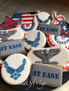 Printing Ideas Useful Outdoor Retirement Party Fun Product Military Retirement Parties, Retirement Cakes, Retirement Planning, Military Wife, Airforce Wife, Promotion Party, Retirement Party Decorations, Air Force Mom, Graduation Cookies
