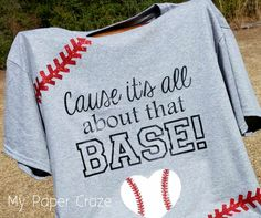 All About That Base... Ball Shirt with {FREE CUT FILE} by My Paper Craze
