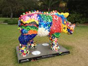 Until April '14 the Royal Botanic Garden, Sydney will be hosting two wild rhino sculptures as part of Taronga Wild! Rhinos. The project will create a spect...
