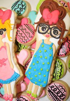 nerdy doll cookie, Adorable! - hayleycakesandcookies