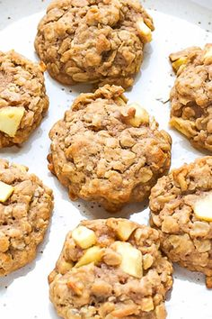 Easy Chewy Apple Oatmeal Cookies Recipe – loaded with pieces of fresh apple, oats, these cookies are chunky and taste delicious! Oat Cookie Recipe, Oatmeal Cookie Recipes, Easy Cookie Recipes, Best Oatmeal Cookies, Healthy Oatmeal Cookies, Cookies With Oats, Apple Oatmeal, Oatmeal Diet, Apple Recipes Easy